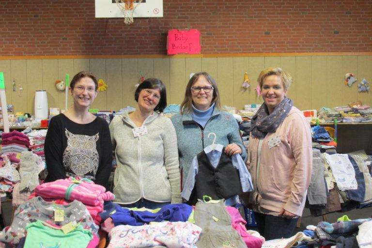 Das Orga-Team: Michaela Peters (von links), Milena Lippmann, Swantje Engels und Maike Heggblum.