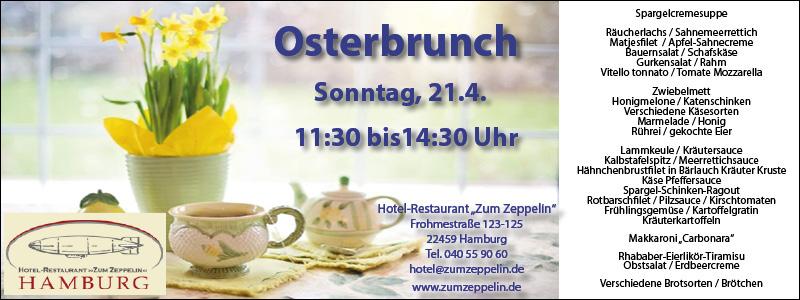 Restaurant Zum Zeppelin Hamburg Schnelsen Ostern Osterbrunch essen gehen