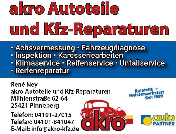 Akro Autoteile Reparaturen Pinneberg die Norderstedterin