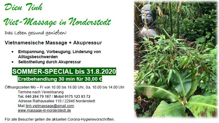 Dien Tinh Viet-Massage Norderstedt Vietnamesische Massage Akupressur die Norderstedterin