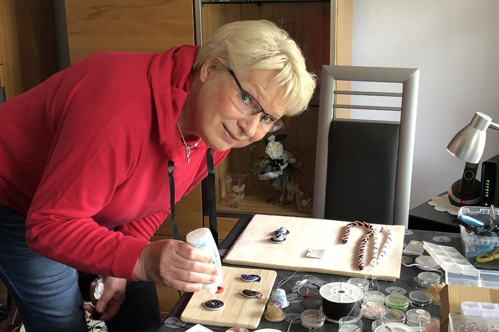 Rellinger Herbstmarkt Kunsthandwerk Regine Broscheit Christin Lüdemann die Norderstedterin