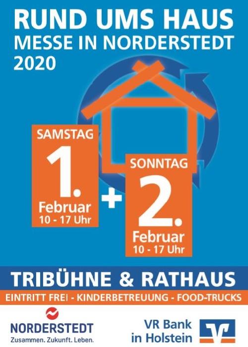 Rund ums Haus Messe Norderstedt 2020 VR Bank in Holstein die Norderstedterin