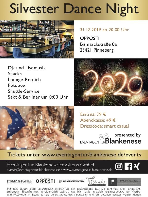 Silvester Dance-Night Pinneberg Opposti Eventagentur Blankenese die Norderstedterin